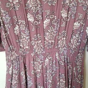 Band of Gypsies Sweaters - Band of Gypsies Pink Long Kimono Cardigan